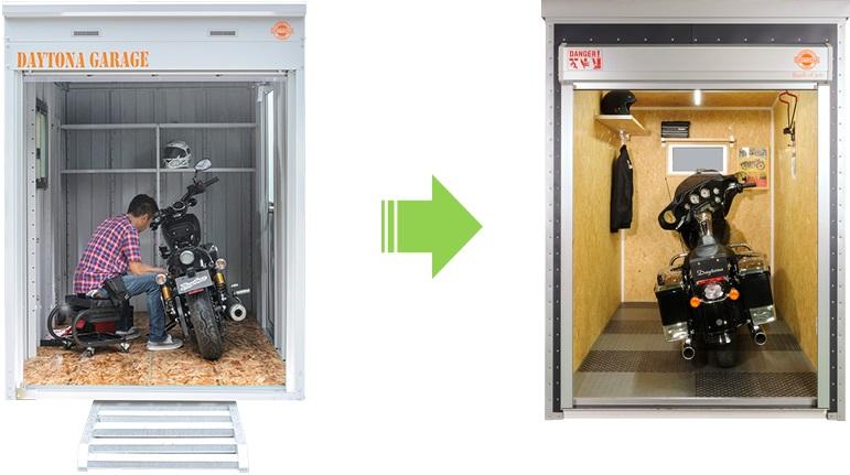 デイトナガレージbasicとbike lodgeの内装比較