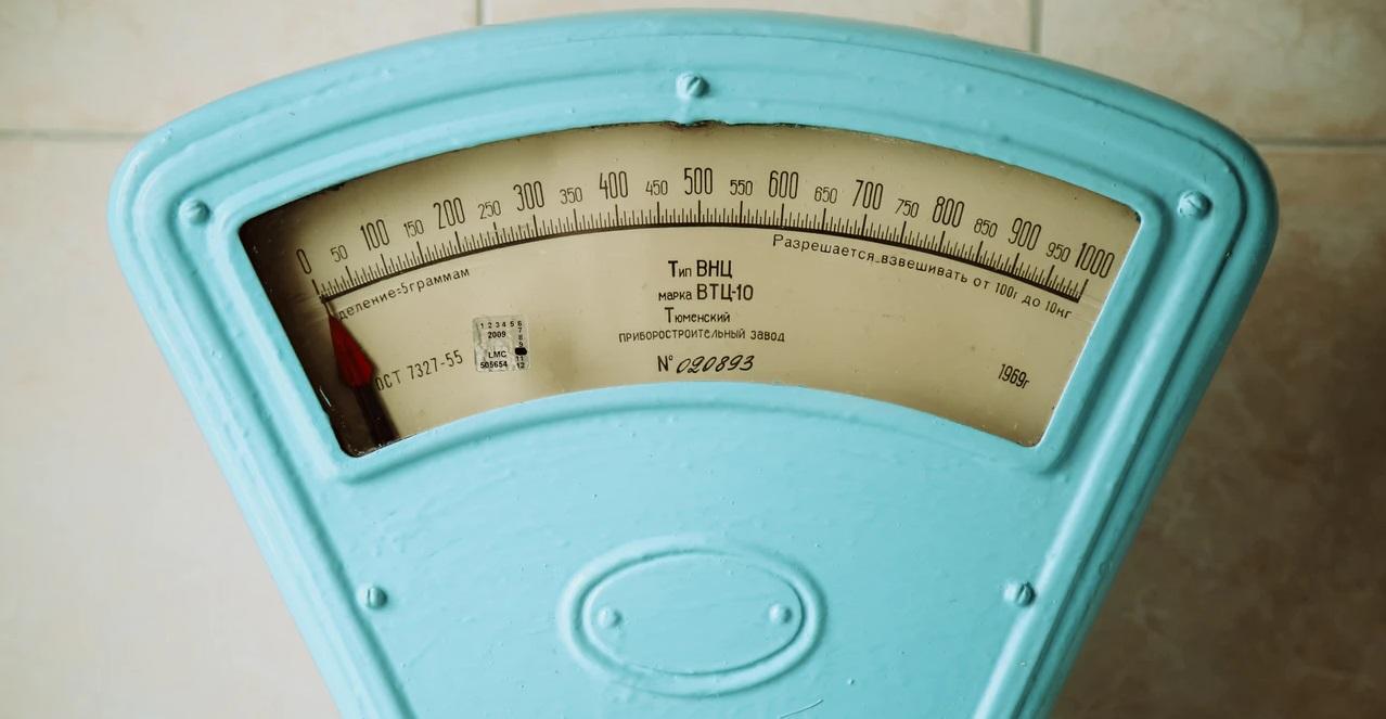 体重計を真上から撮影した画像