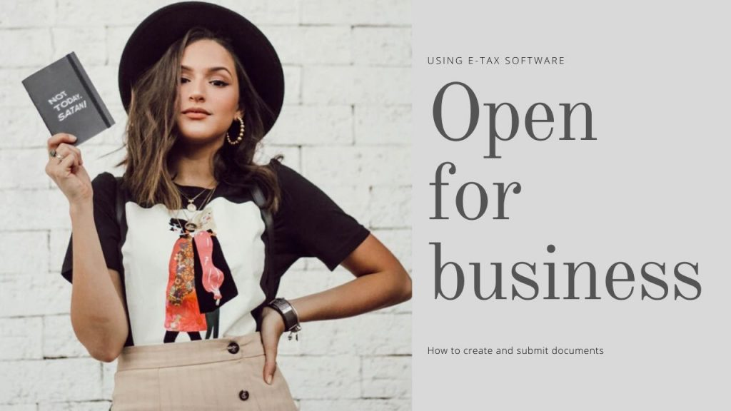Open for business_e-taxを使って、個人の開業・廃業等届出書を作成する方法