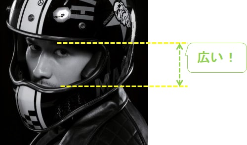 YBシリーズヘルメット視界のよいヘルメット図解ver2